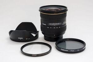 Wide angle landscape lens Sigma 10-20mm f/4-5.6 Nikon Mount