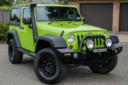 2012 Jeep Wrangler JK MY2012 Sport Green 6 Speed Manual Softtop Greenacre Bankstown Area Preview