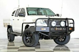 2014 Toyota Hilux KUN26R MY12 SR (4x4) White 5 Speed Manual Dual Cab Chassis Burleigh Heads Gold Coast South Preview