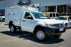 2012 Mitsubishi Triton MN MY12 GL 4x2 White 5 Speed Manual Cab Chassis Myaree Melville Area Preview
