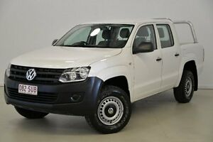 2011 Volkswagen Amarok 2H MY12 TSI300 White 6 Speed Manual Utility Mansfield Brisbane South East Preview