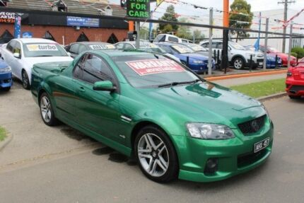 2010 Holden Commodore VE II SV6 Green 6 Speed Automatic Utility West Footscray Maribyrnong Area Preview