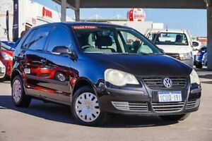 2007 Volkswagen Polo 9N MY08 Upgrade Match Black 6 Speed Automatic Hatchback