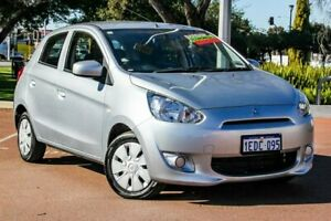 2013 Mitsubishi Mirage LA MY14 ES Silver 5 Speed Manual Hatchback Cannington Canning Area Preview