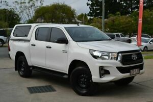 2018 Toyota Hilux SR White 6 Speed Manual Dual Cab Beaudesert Ipswich South Preview