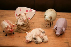 Decorative pig collection