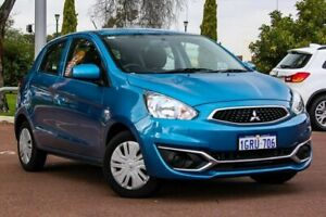 2018 Mitsubishi Mirage LA MY19 ES Blue 1 Speed Constant Variable Hatchback Cannington Canning Area Preview