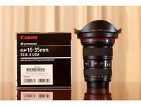 CANON EF Lens 16-35mm f/2.8L
