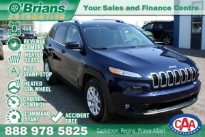 2015 Jeep Cherokee North - Accident Free! w/4x4, Command Start