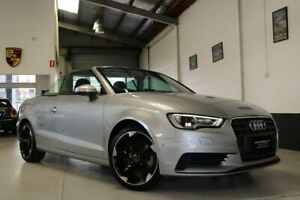 2014 Audi A3 8V MY15 Attraction S Tronic Silver 7 Speed Sports Automatic Dual Clutch Cabriolet West Melbourne Melbourne City Preview
