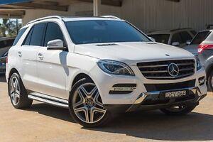 2014 Mercedes-Benz ML350 W166 BlueTEC 7G-Tronic + White 7 Speed Sports Automatic Wagon Greenacre Bankstown Area Preview