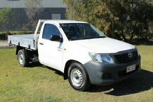 2012 Toyota Hilux TGN16R MY12 Workmate 4x2 White 4 Speed Automatic Cab Chassis Ormeau Gold Coast North Preview