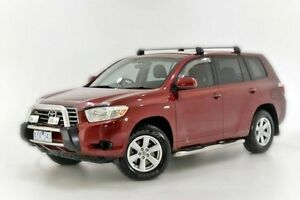 2008 Toyota Kluger GSU40R KX-R 2WD Red 5 Speed Sports Automatic Wagon Narre Warren Casey Area Preview