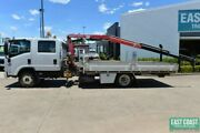 2012 ISUZU NQR 450 Dual Cab Tray Top Crane Truck SN#5535 Acacia Ridge Brisbane South West Preview