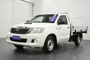 2014 Toyota Hilux KUN16R MY14 Workmate Glacier White 5 Speed Manual Cab Chassis Oakleigh Monash Area Preview