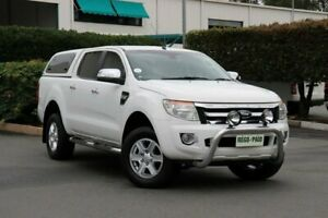 2014 Ford Ranger PX XLT Double Cab 4x2 Hi-Rider Cool White 6 Speed Sports Automatic Utility Acacia Ridge Brisbane South West Preview