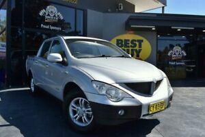 2010 Ssangyong Actyon Sports 100 Series MY11 Tradie 4x2 Silver 6 Speed Sports Automatic Utility Campbelltown Campbelltown Area Preview