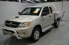 2008 Toyota Hilux KUN26R MY08 SR Xtra Cab Silver 5 Speed Manual Cab Chassis Old Guildford Fairfield Area Preview