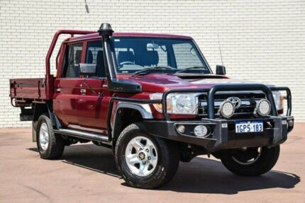 2016 Toyota Landcruiser VDJ79R GXL Double Cab Red 5 Speed Manual Cab Chassis Bayswater Bayswater Area Preview
