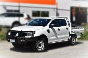 2014 Ford Ranger PX XL White 6 Speed Sports Automatic Cab Chassis Berwick Casey Area Preview