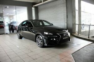 2016 Lexus IS200T ASE30R MY16 F Sport Starlight Black 8 Speed Automatic Sedan Thornleigh Hornsby Area Preview