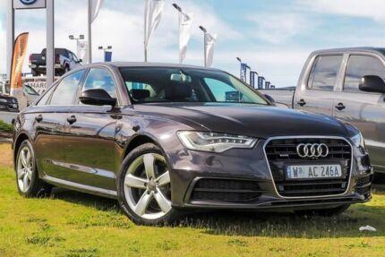 2013 Audi A6 4G MY13 S tronic quattro Grey 7 Speed Sports Automatic Dual Clutch Sedan Wangara Wanneroo Area Preview
