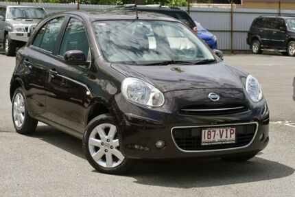 2011 Nissan Micra K13 TI Black 4 Speed Automatic Hatchback Southport Gold Coast City Preview