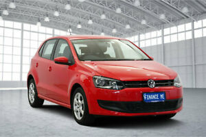2013 Volkswagen Polo 6R MY13.5 66TDI DSG Comfortline Red 7 Speed Sports Automatic Dual Clutch Victoria Park Victoria Park Area Preview