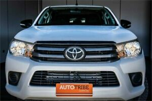 2015 Toyota Hilux GUN136R SR Hi-Rider White 6 Speed Automatic Dual Cab Utility West Perth Perth City Area Preview