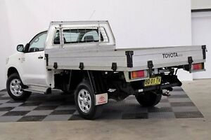 2012 Toyota Hilux KUN26R MY12 SR White 5 Speed Manual Cab Chassis Seven Hills Blacktown Area Preview