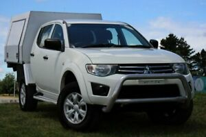 2013 Mitsubishi Triton MN MY13 GLX Double Cab White 5 Speed Manual Utility Officer Cardinia Area Preview