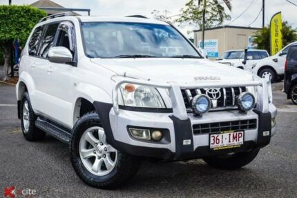 2005 Toyota Landcruiser Prado KZJ120R Grande White 4 Speed Automatic Wagon Archerfield Brisbane South West Preview