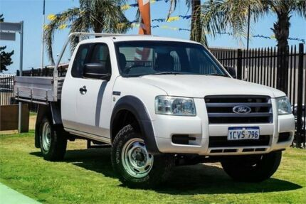 2008 Ford Ranger PJ XL Super Cab 4x2 Hi-Rider White 5 Speed Manual Cab Chassis Wangara Wanneroo Area Preview