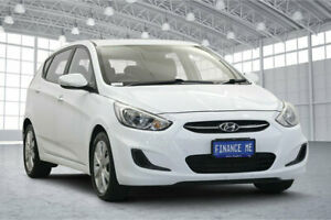 2017 Hyundai Accent RB6 MY18 Sport White 6 Speed Sports Automatic Hatchback Victoria Park Victoria Park Area Preview