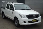 2013 Toyota Hilux TGN16R MY14 Workmate White 4 Speed Automatic Dual Cab Pick-up Riverstone Blacktown Area Preview