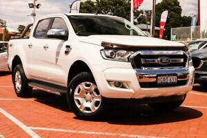 2016 Ford Ranger PX MkII XLT Double Cab White 6 Speed Manual Utility Myaree Melville Area Preview