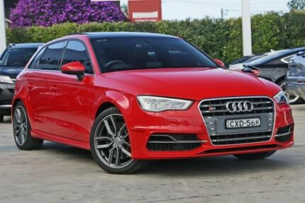 2015 Audi S3 8V MY15 Sportback S tronic quattro Red 6 Speed Sports Automatic Dual Clutch Hatchback
