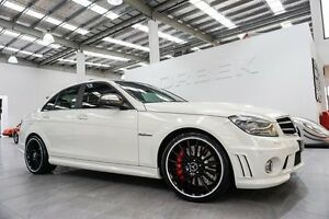 2008 Mercedes-Benz C63 W204 AMG Calcite White 7 Speed Automatic G-Tronic Sedan Port Melbourne Port Phillip Preview