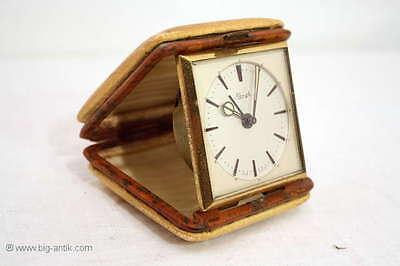 Wunderschöner nostalgischer KINZLE Wecker / Reisewecker / nostalgic KINZLE clock