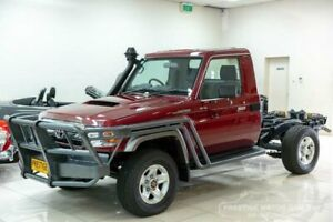 2015 Toyota Landcruiser VDJ79R MY12 Update GXL (4x4) Burgundy 5 Speed Manual Cab Chassis