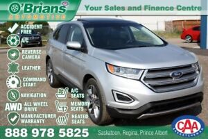 2016 Ford Edge Titanium - Accident Free! w/Mfg Warranty, AWD, Na