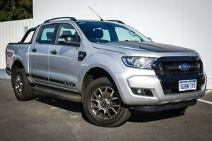 2017 Ford Ranger PX MkII 2018.00MY FX4 Double Cab Silver 6 Speed Sports Automatic Utility Maddington Gosnells Area Preview