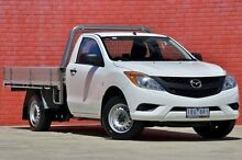 2013 Mazda BT-50 UP0YD1 XT 4x2 White 6 Speed Manual Cab Chassis Pakenham Cardinia Area Preview