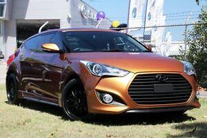 2012 Hyundai Veloster FS MY13 SR Turbo Orange 6 Speed Automatic Coupe Zetland Inner Sydney Preview