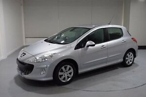 2009 Peugeot 308 T7 XSE Turbo Silver 5 Speed Manual Hatchback Invermay Launceston Area Preview