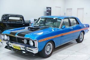 1971 Ford Falcon XY GT Electric Blue 3 Speed Automatic Sedan Carss Park Kogarah Area Preview