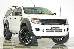 2012 Ford Ranger PX XL 3.2 (4x4) White 6 Speed Manual Dual Cab Utility Burleigh Heads Gold Coast South Preview