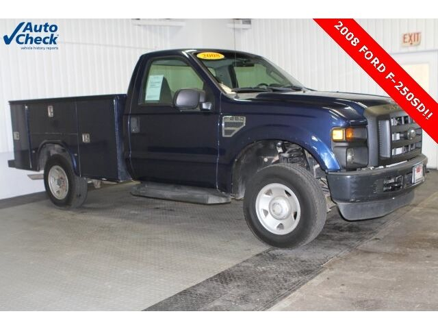 Ford: F-250 XL Used 08 Ford F250SD Regular Cab 4x4 Knaphiede Utility Box 5.4L V8 Auto Work