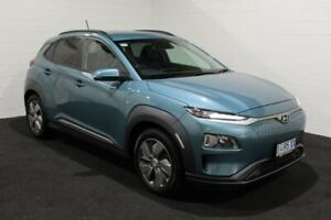 2019 Hyundai Kona OS.3 MY19 electric Launch Edition Blue 1 Speed Reduction Gear Wagon Glenorchy Glenorchy Area Preview