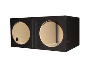Black 10 Inch Dual Subwoofer Speaker Box Enclosure Ported Vented R T Enterprises